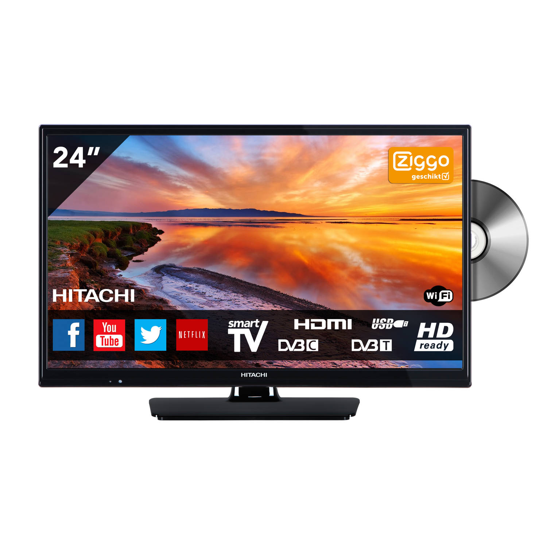 Hitachi 24HB4J65 TV - HD-Ready 24 inch LED smart DVD combi met ingebouwde wifi televisie