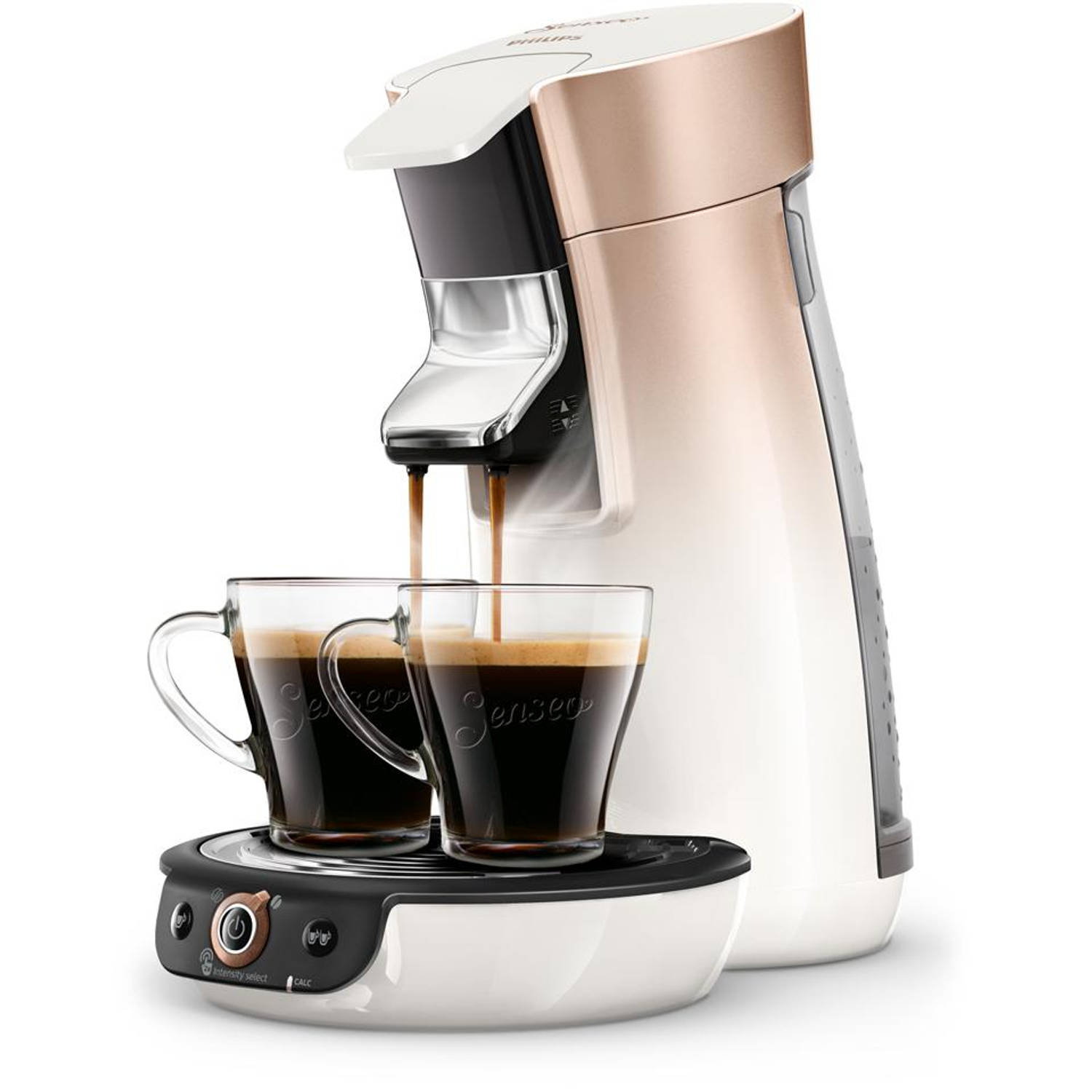 Philips SENSEO® Viva Café Duo Select koffiepadmachine HD6566/30 - roze/koper