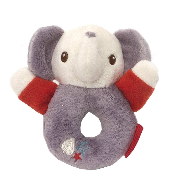 Fisher Price ringrammelaar olifant 12 cm grijs