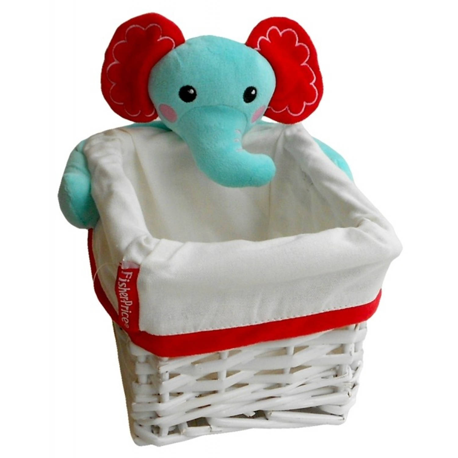 Fisher-Price opbergbox olifant 9,86 liter wit/blauw