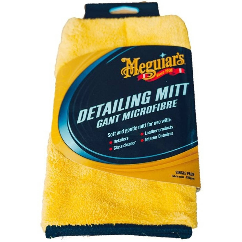 Meguiar's Detailing Mitt washandschoen microvezel geel