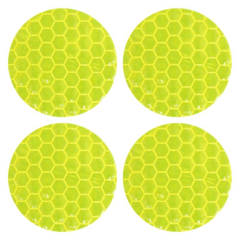 Simoni Racing reflecterende stickers 3 cm geel 4 stuks
