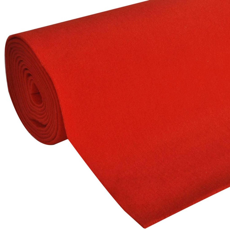 Vidaxl rood tapijt 1 x 5 m extra zwaar 400 g/m2