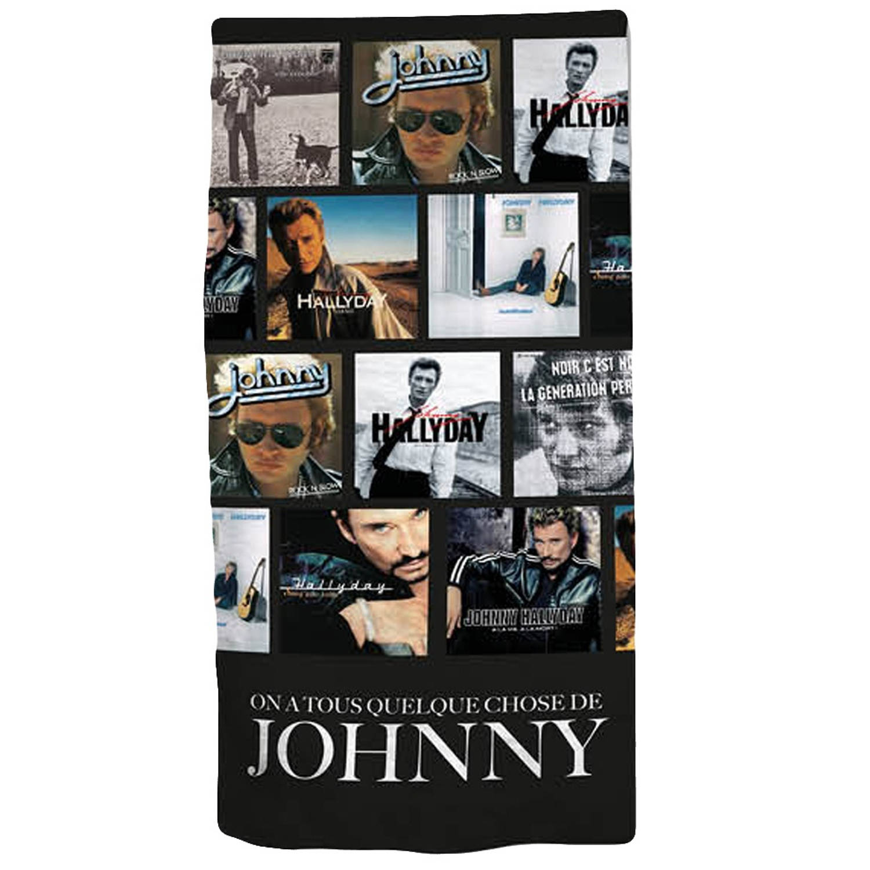 Afbeelding van Aymax badlaken Johnny Hallyday 75 x 150 cm zwart