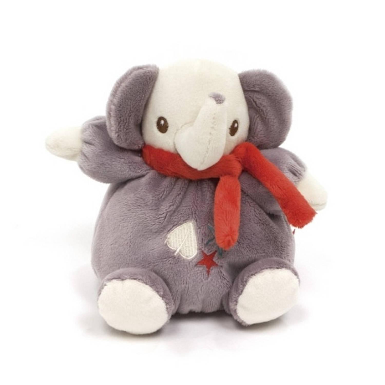Fisher Price knuffelrammelaar olifant 15 cm grijs