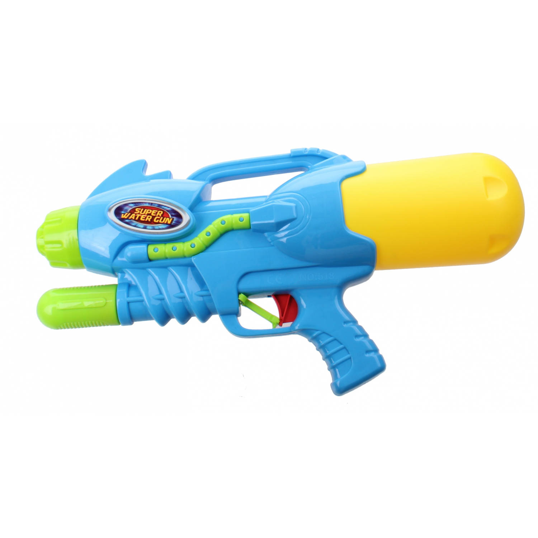 Kids Fun waterpistool Super Watergun 42 cm blauw/geel