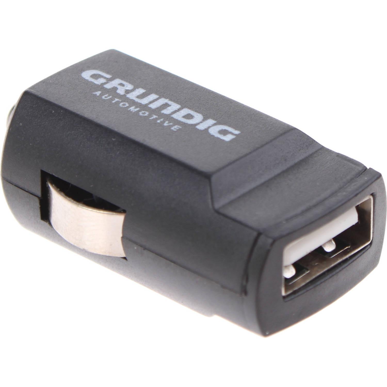 Dunlop autolader USB Compact 12 Volt 2 Ampère zwart