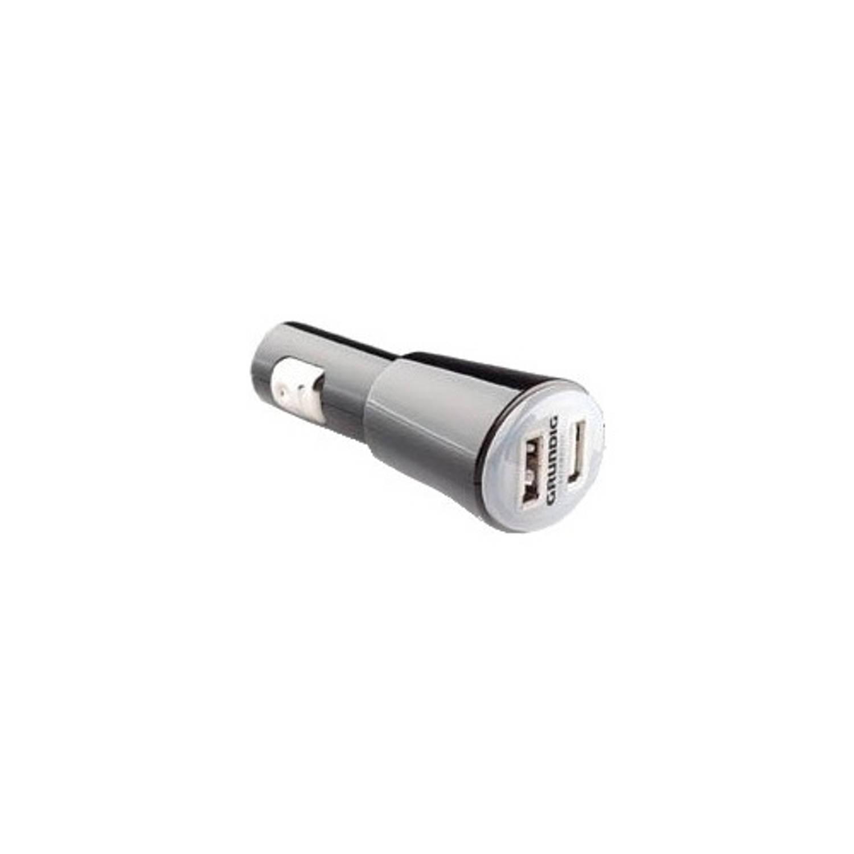 Grundig autolader USB 12 Volt 1 Ampère zwart