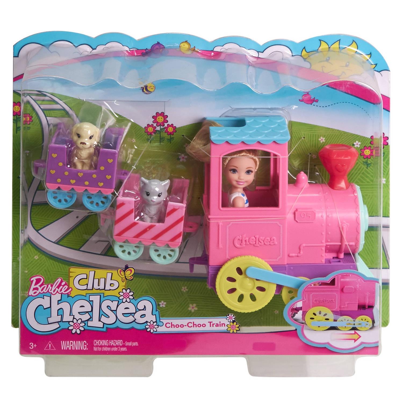 Barbie Chelsea met trein