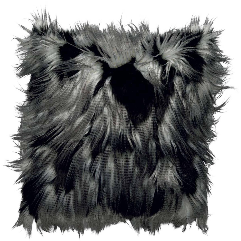 Dutch Decor Kussenhoes Jimm 45x45 cm zwart