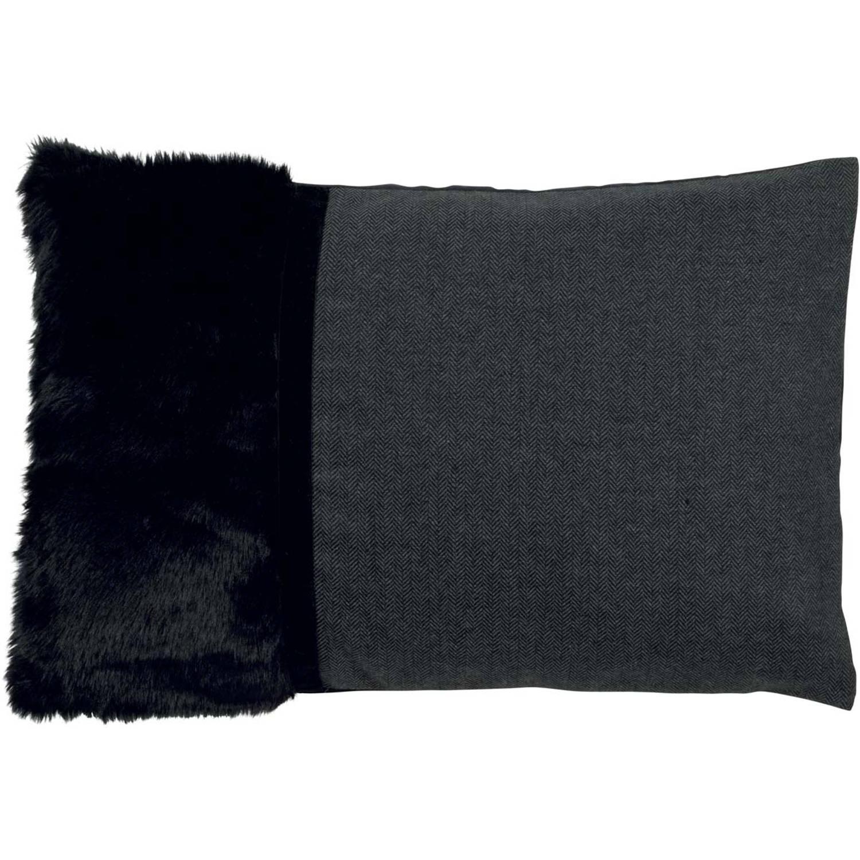 Dutch Decor Sierkussen Stefanie 40x60 cm zwart