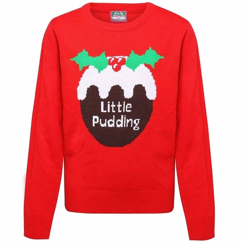 Kersttrui Voor Kinderen.Kerst Rode Kersttrui Voor Kinderen Little Pudding 3 4 Jaar 104 110