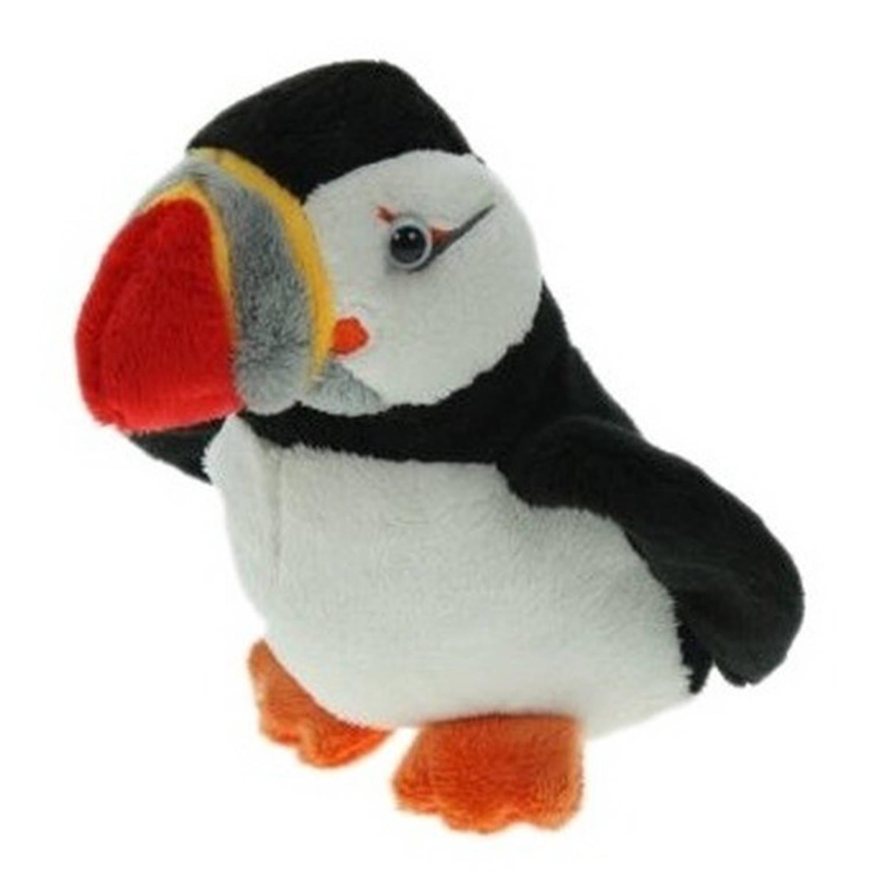 Pluche papegaaiduiker/puffin vogel knuffel 15 cm