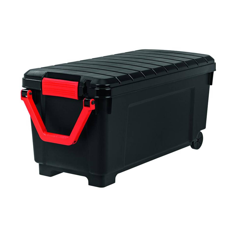 Iris Store It All opbergbox - 170 liter - zwart/rood