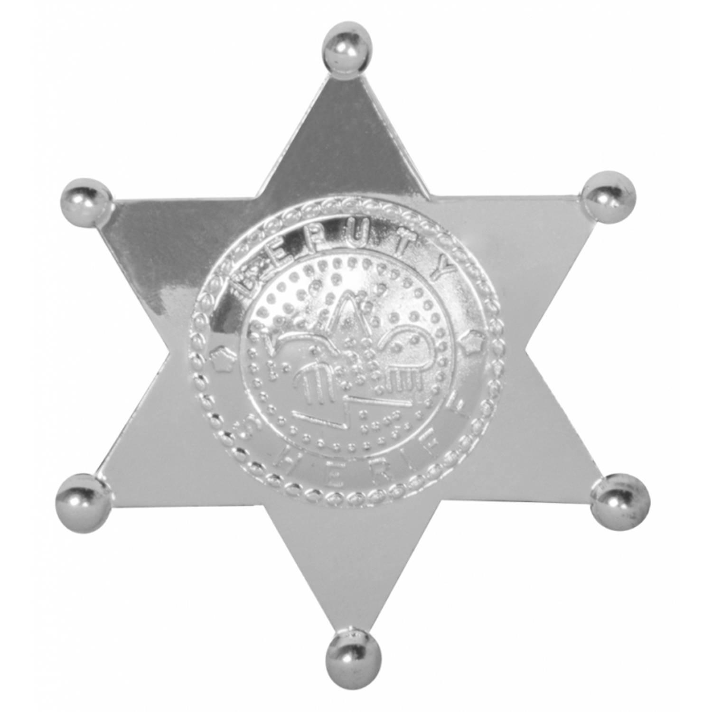 Korting Sheriff Badge Ster Zilver