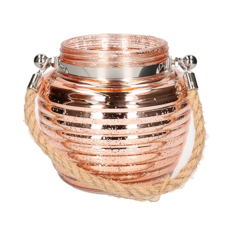 Afbeelding van Home deco windlicht lantaarn koper 13 cm