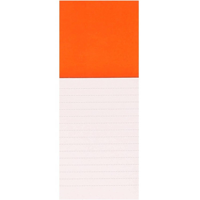 Korting Oranje Magneet Met Notitieblokje