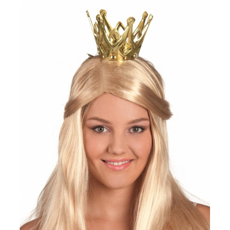 Korting Gouden Prinsessen Kroontje Dames Koningsdag Kroontje Goud