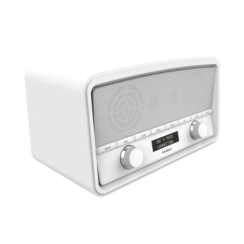 Goodmans Heritage DAB+ Bluetooth Radio Gloss White