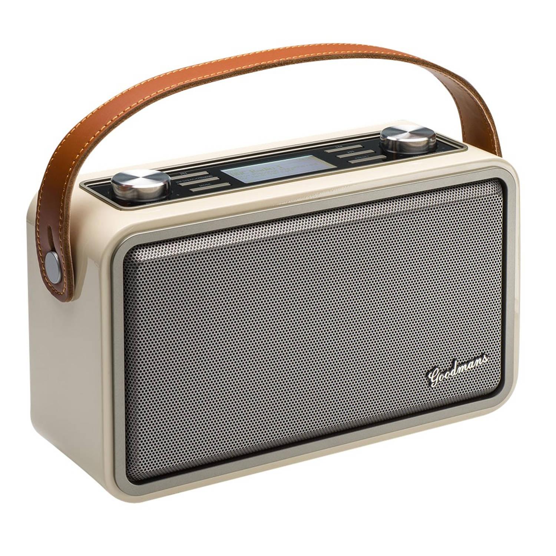 Goodmans Heritage Portable Wifi DAB+ Bluetooth Radio Piano White