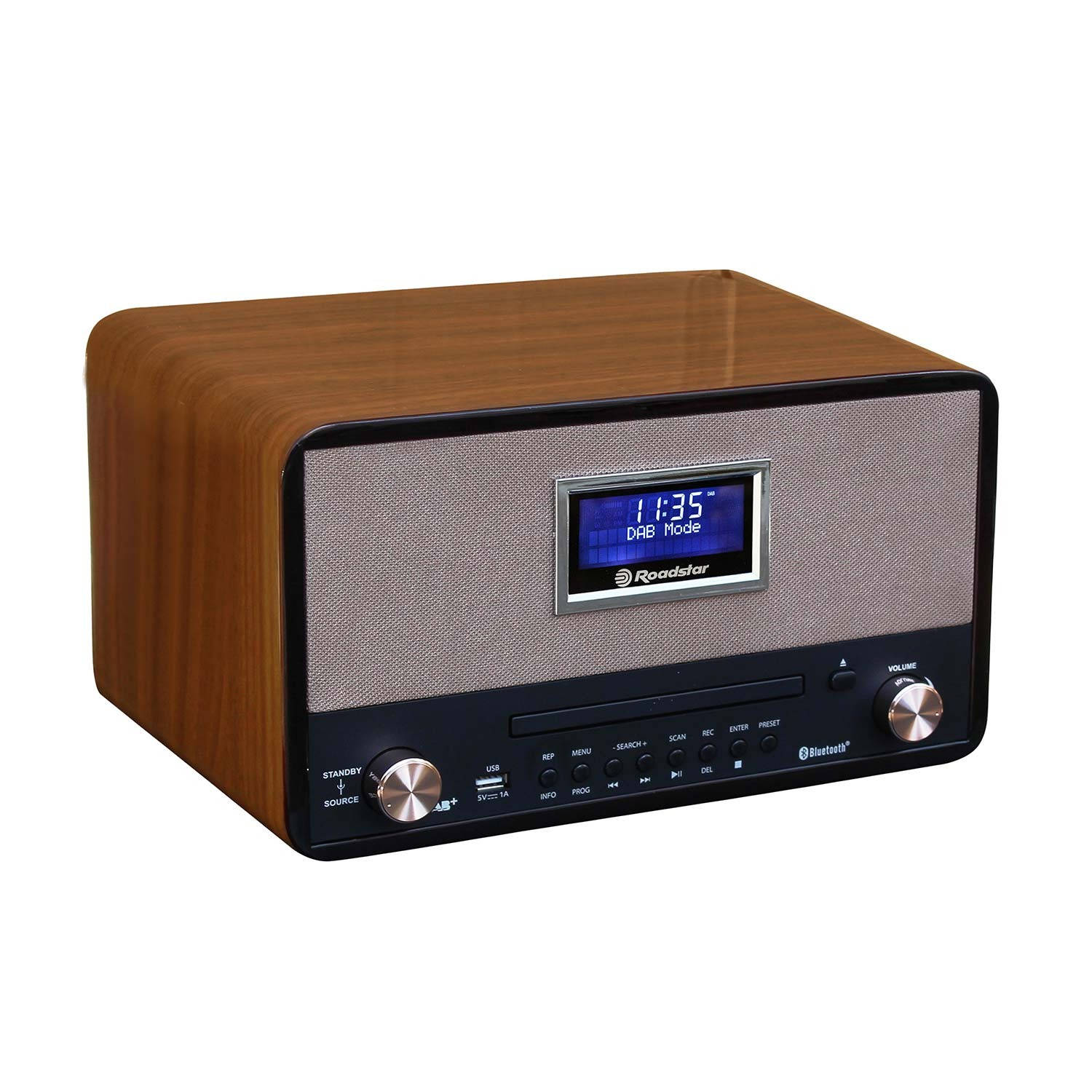 Roadstar HRA-1786D+BT DAB+ Retro Radio & CD Speler