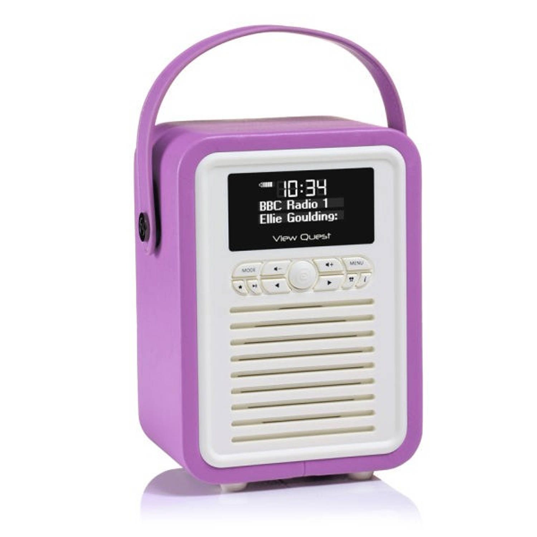 View Quest Retro Radio Mini DAB+ Bluetooth Wekker Radiant Orchid