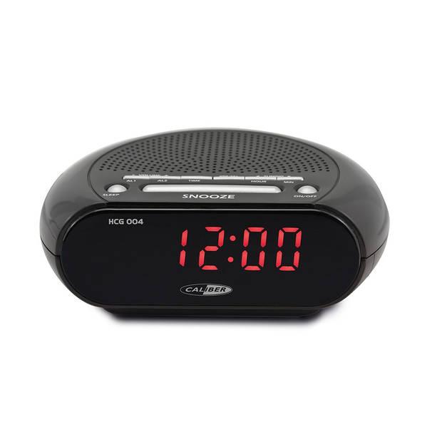 Caliber Wekkerradio Met Dual Alarm - Zwart (HCG004)