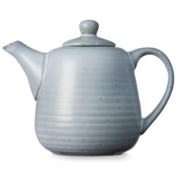 Blokker Ottawa theepot - 1 liter - grijsblauw