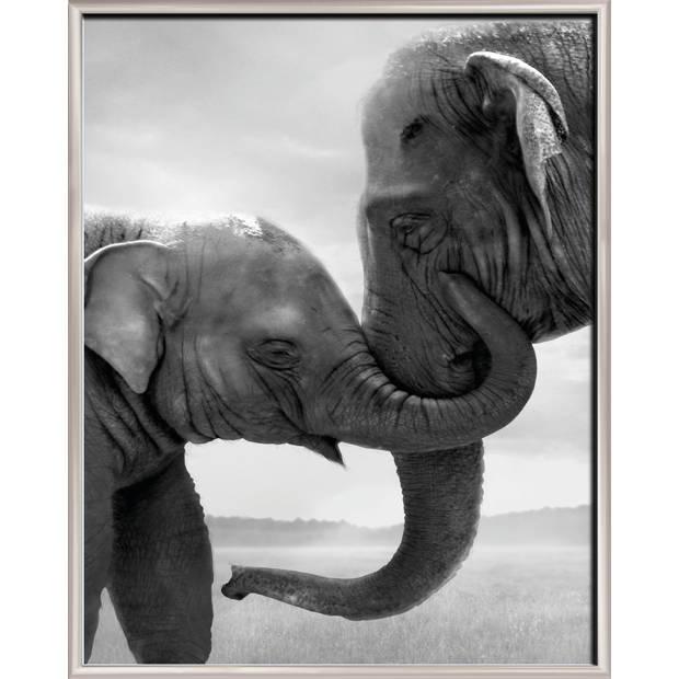 Blokker fotolijst basis - 40 x 50 cm - zilver - dunne rand