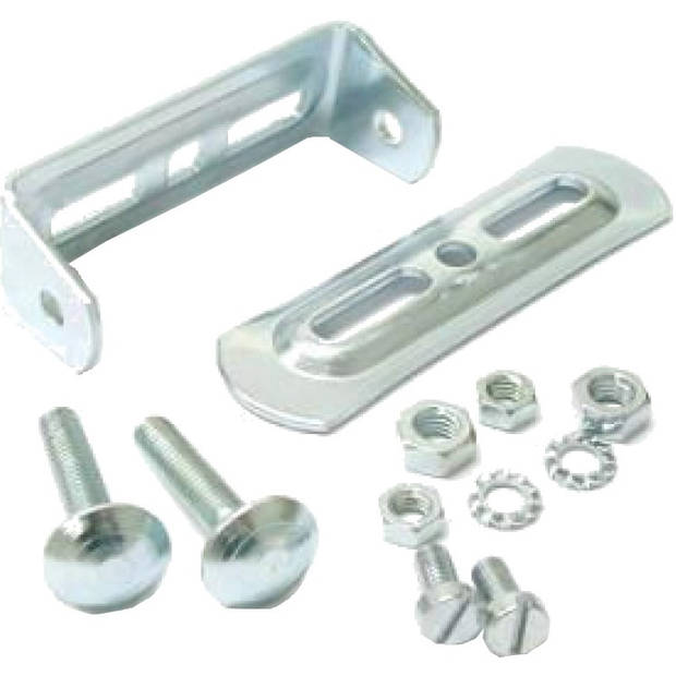 Steco universeel bagagedrager-montuur staal zilver