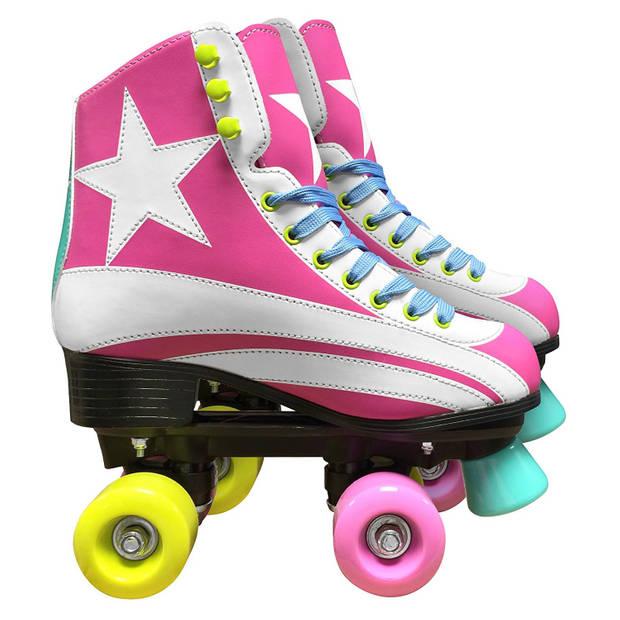 Stamp rolschaatsen Quad meisjes roze