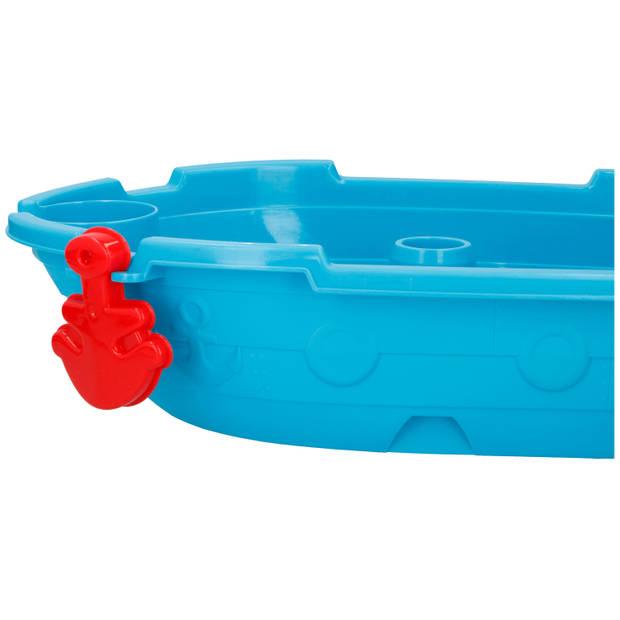 Eddy Toys Zand- en Watertafel Piraten - met 12 Accessoires - Buitenspeelgoed - 54 X 45 X 31 cm