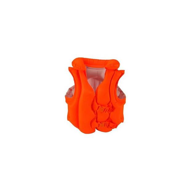 Intex zwemvest deluxe junior oranje