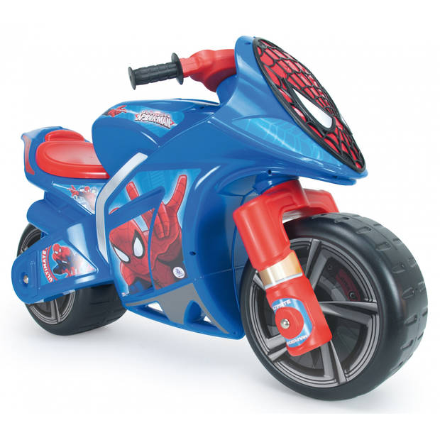Injusa loopmotor Ultimate Spider-Man 95 cm blauw/rood