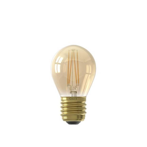 Calex LED volglas Filament Kogellamp 220-240V 3,5W 200lm E27 P45, Goud 2100K CRI80 Dimbaar