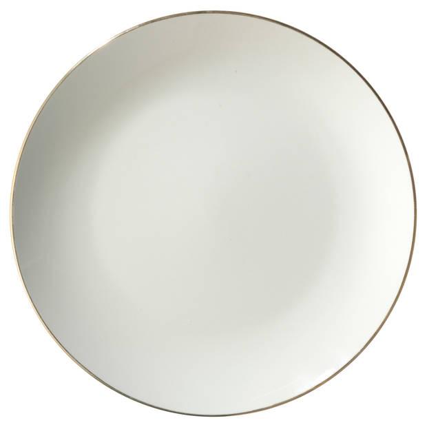 Dinerbord met gouden rand - ø 26 cm