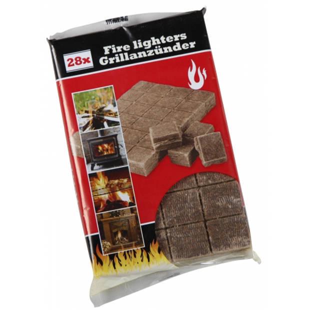 Barbecue/BBQ aanmaakblokjes 28 stuks - aansteek/aansteken blokjes setje