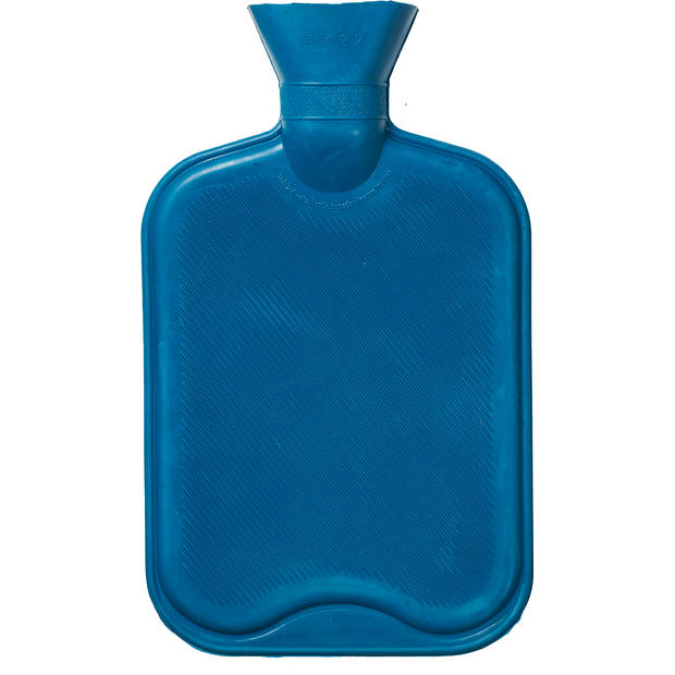 Blokker rubberkruik - blauw - 2L