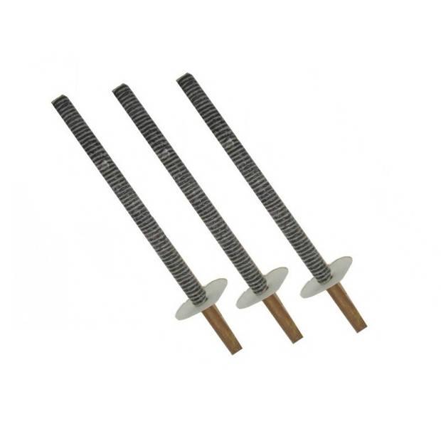 3 stuks fakkeltocht fakkels met handvat - 50 cm - wasfakkels