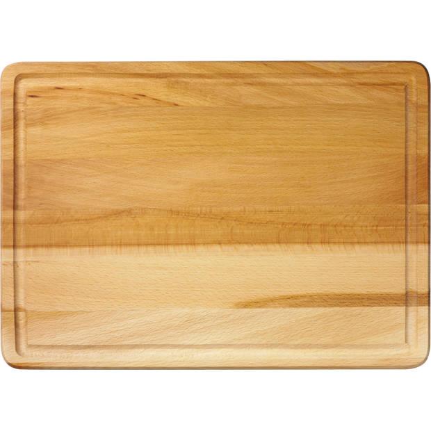 Blokker snijplank - beukenhout - 35 x 25 x 2 cm