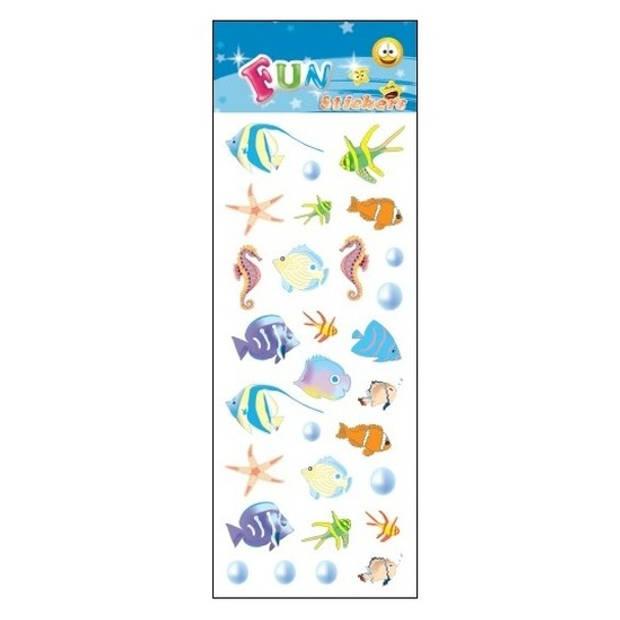 Stickervel tropische vissen - 31 x 11 cm - stickers
