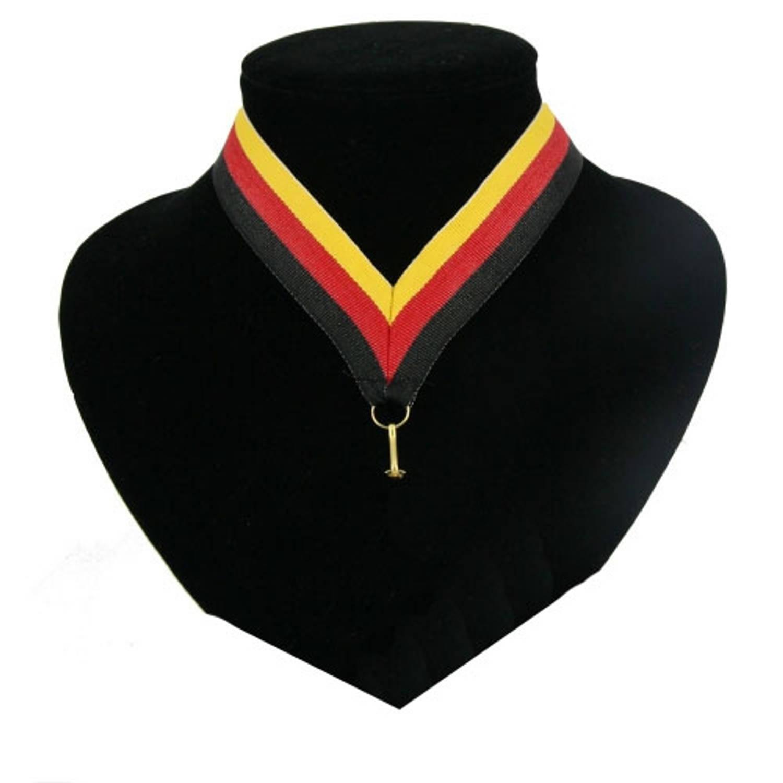 Korting Halslint Zwart, Rood En Geel