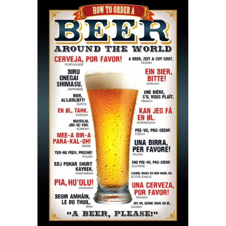 Poster Bier 61 X 91,5 Cm
