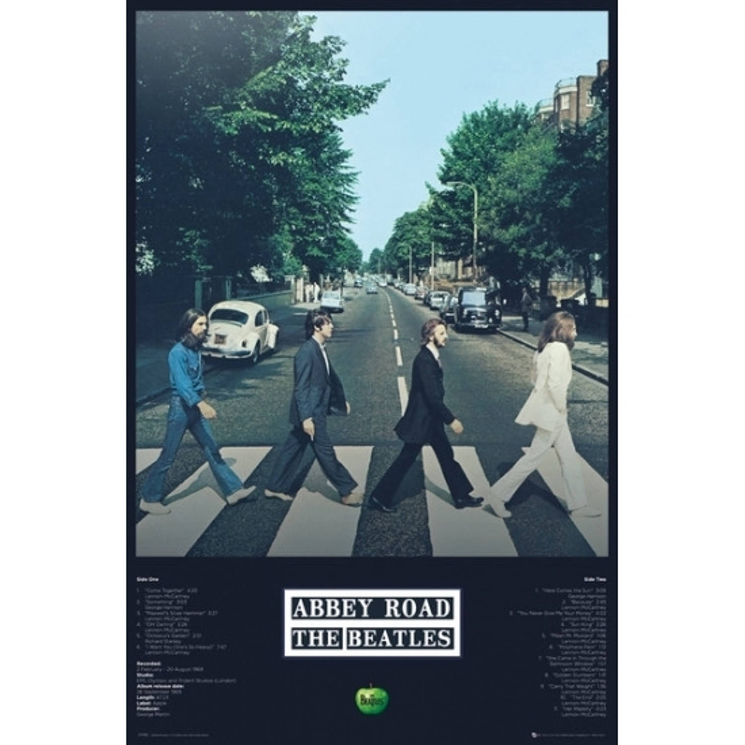 Poster The Beatles Abbey Road 61 X 91,5 Cm
