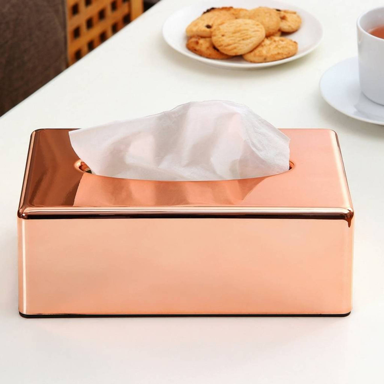Verbazingwekkend Rosé Gouden Kleurige Tissuedoos - Tissue Houder Doos Box - RVS TS-34