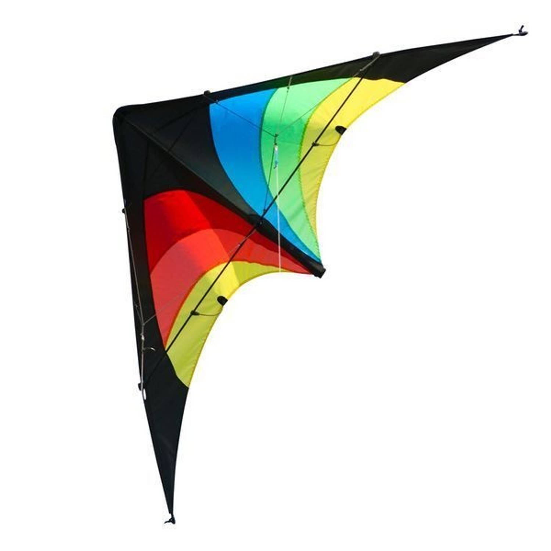 Elliot tweelijnsstuntkite Delta Stunt Rainbow 130 cm