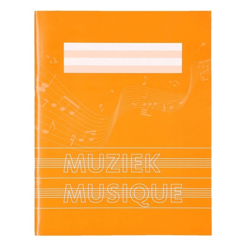 Korting 1x Stuks A5 Schriften Schoolschriften Oranje Met Muzieknoten 18 Bladzijden 23 Lijns