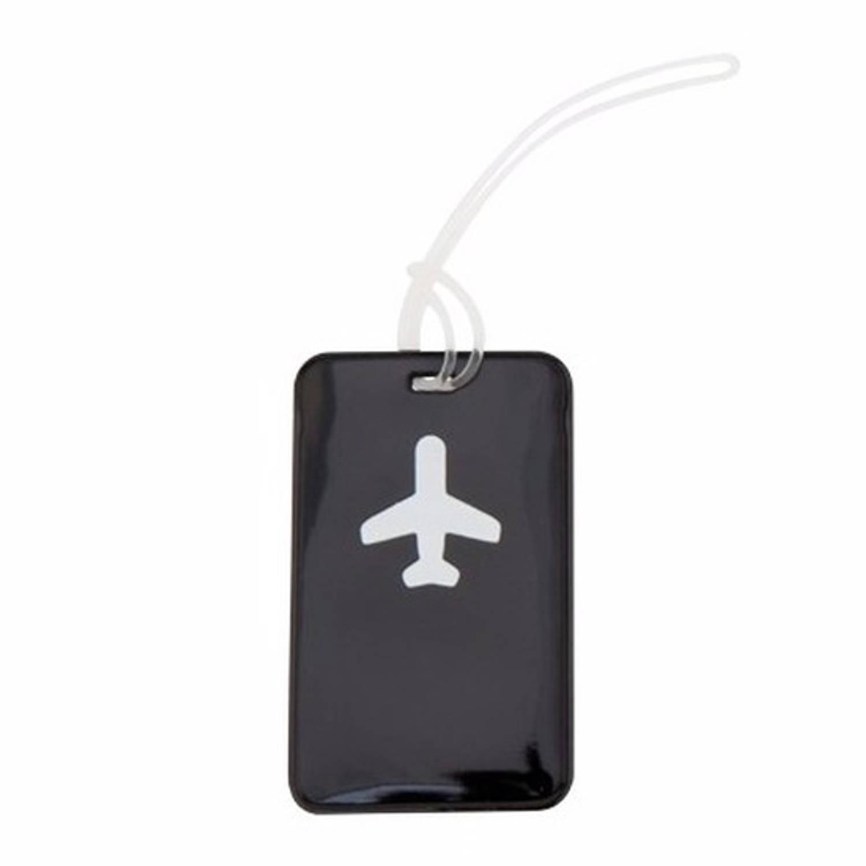 Korting Kofferlabel Zwart 11,5 Cm