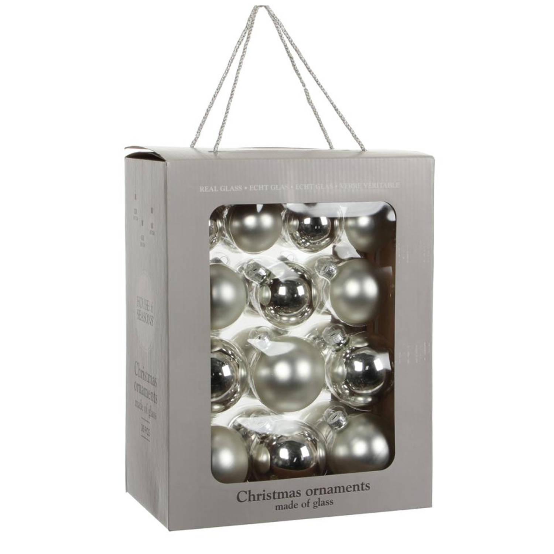 House of Seasons Kerstbal Zilver Set van 26 Ø7 cm