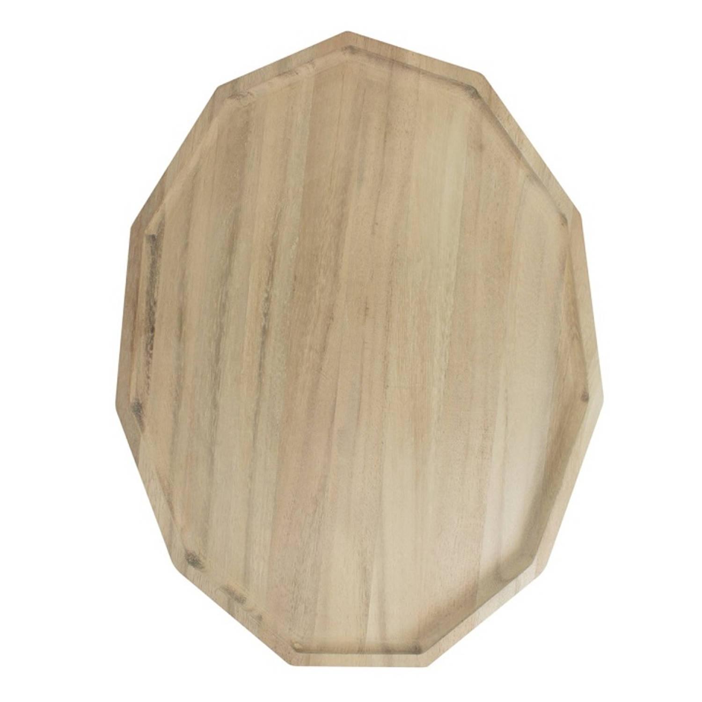 Dienblad Polygon Blis - Rubberhout - L - Tak Design